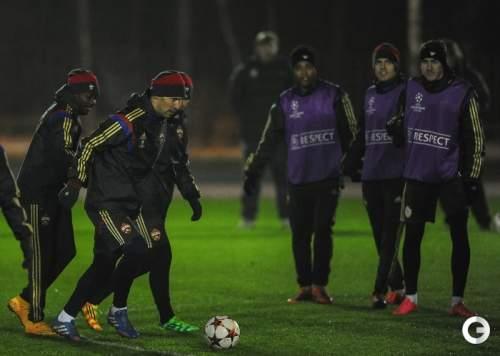 ЦСКА готовится кматчу с «Ромой»